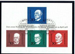 BRD-1968-Adenauer-Block-4-mit-2-x-ETSST