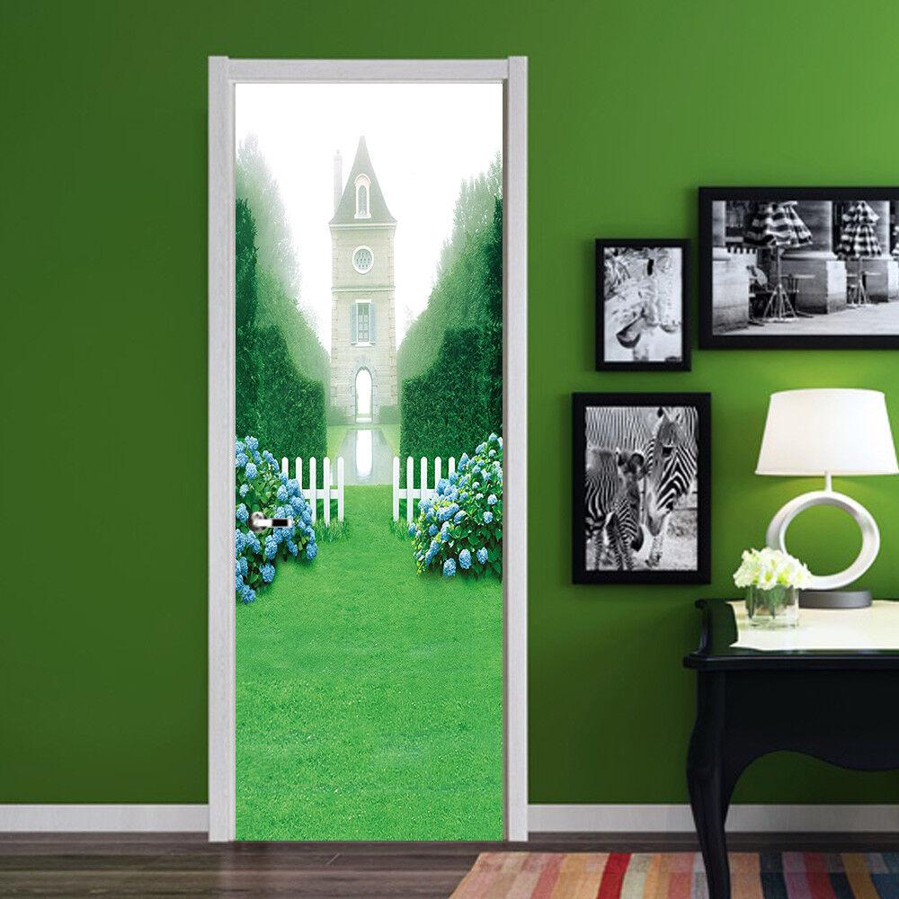 3D Die Kirche 9 Tür Wandmalerei Wandaufkleber Aufkleber AJ WALLPAPER DE Kyra