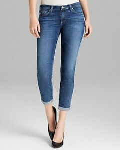 AG-Adriano-Goldschmied-Womens-Jeans-The-Stilt-Roll-Up-in-11-Years-Journey-Sz-27