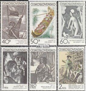 Tschechoslowakei-1981-1986-kompl-Ausg-postfrisch-1971-Kunst