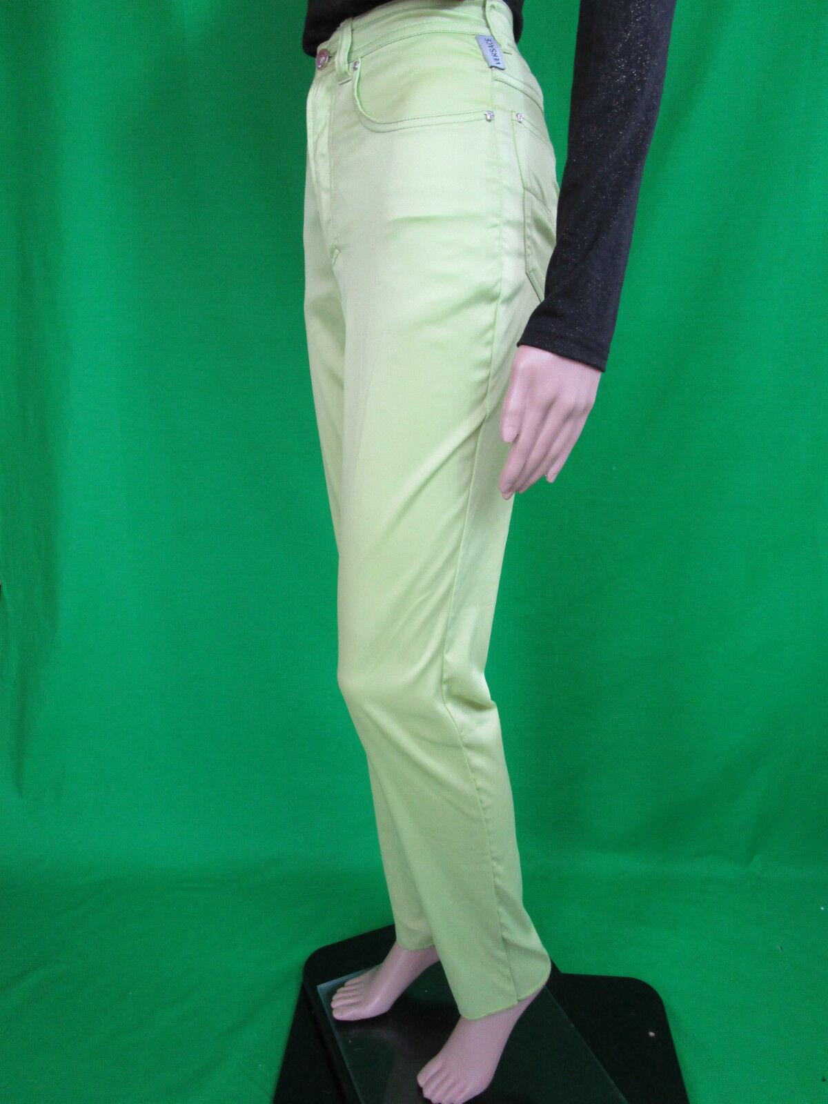 VERSACE Woman New Sexy High Waist Casual Casual Casual Design Grün Lux Trousers sz IT 24 AN97 | Deutschland Store  | Qualität Produkt  | Große Auswahl  165d04
