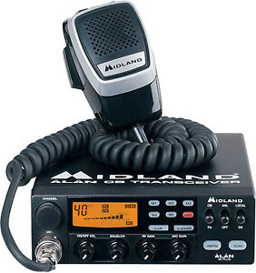 Details about CB Radio Midland Alan 48 Plus Multi Standard Midland AM FM  12V 40 Channel