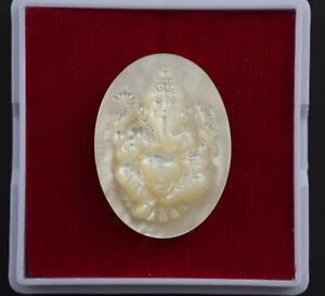 Deite-Ganesh-Elephant-amulette-Thai-Talisman-Pikanet-en-nacre-de-coquillage-1782