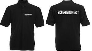 SECURITY-SICHERHEITSDIENST-Polo-Shirt-S-4XL-versch-Druckfarben-Auswahl-SE8