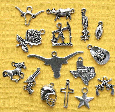 COL260 Deluxe Beach Charm Collection Antique Silver Tone 23 Charms