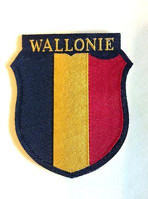 """Ecusson de bras tissé Bevo des volontaires """"WALLONIE"""" - Belgium Freiwilliger"""