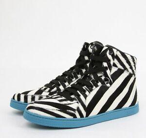 Black Zebra Print Calf Hair High