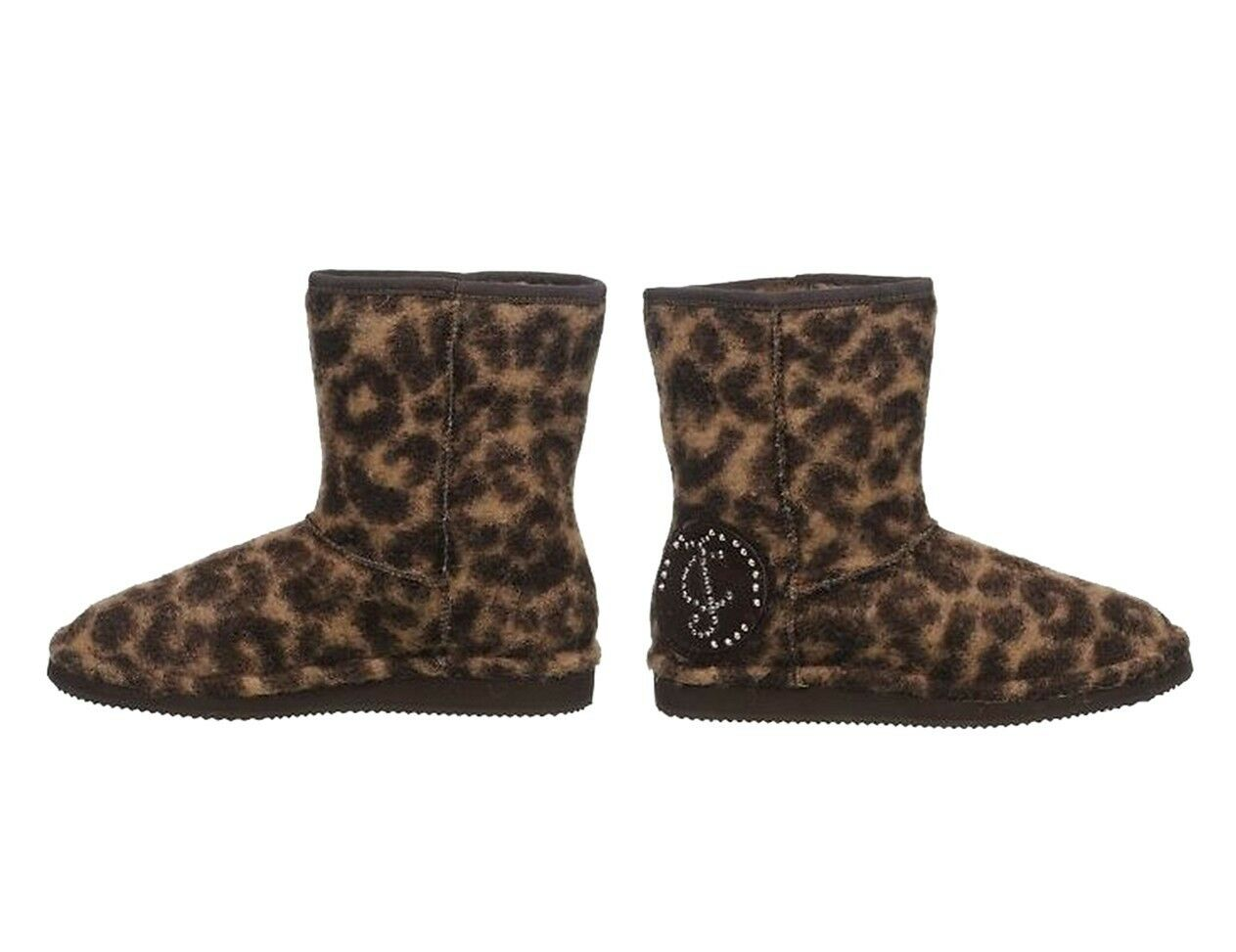 NEW Print JUICY COUTURE Ollie leopard Print NEW Women Fashion Boots Ankle shoes 8beefd
