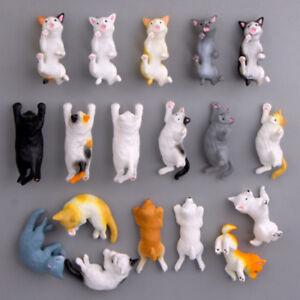 Lustige-Cartoon-Tiere-Nette-Katze-KUHLSCHRANKMAGNET-Aufkleber-Kuehlschrank-Heiss