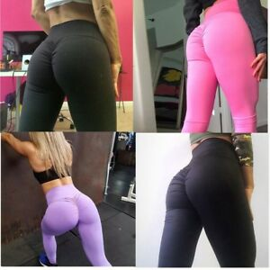 4fe6808782 Details about Women Yoga Pants Hip Push Up Leggings Fitness Running Stretch  Scrunch Trousers
