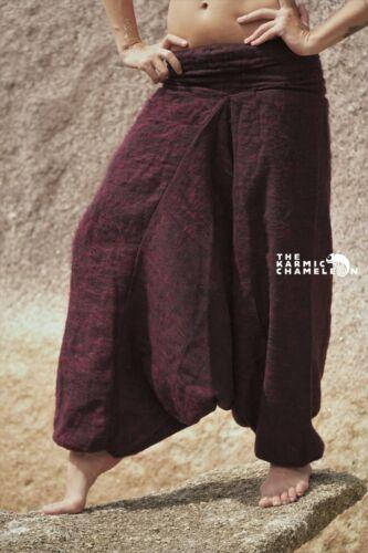 Chaud sarouel hippie rouge foncé noir Yoga Cashmilon fermement Gypsy Doux Confortable