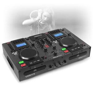 Details about CDJ-450 Dual Twin CD USB Player DJ Desk Mixer with Bluetooth  Jog Wheels CUE