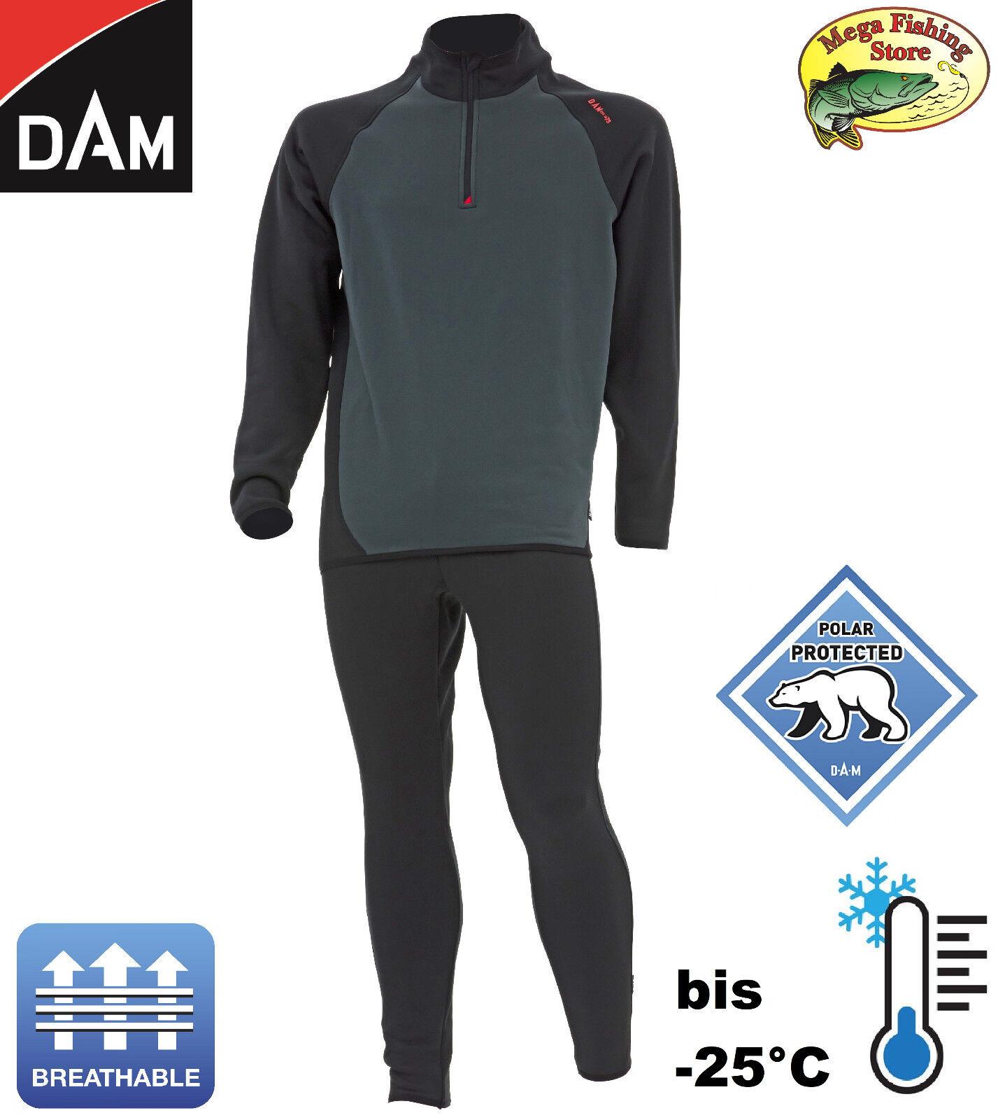 DAM X-Pedition Thermo Fleece Anzug - Unterwäsche   Thermoanzug - Atmungsaktiv  | Ein Gleichgewicht zwischen Zähigkeit und Härte
