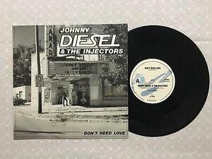 JOHNNY-DIESEL-amp-THE-INJECTORS-DON-039-T-NEED-LOVE-RARE-SIGNED-10-034-1988-SINGLE