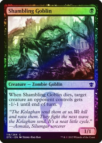 Shambling Goblin FOIL Dragons of Tarkir NM-M Black Common MAGIC CARD ABUGames