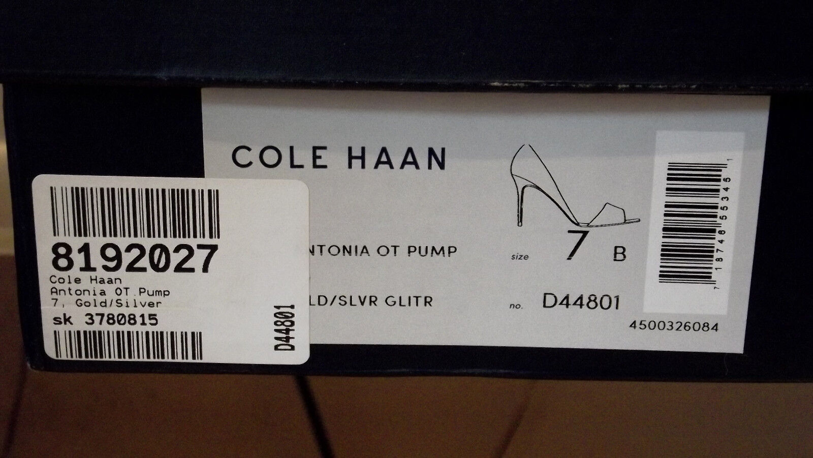 Cole Haan Antonia Metallic Peep Toe shoes shoes shoes - 7B 92091f