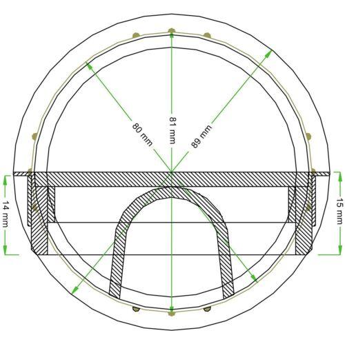 Kabeldurchlass Bureau Passage de Câble Chrome Poli Style pour Presse