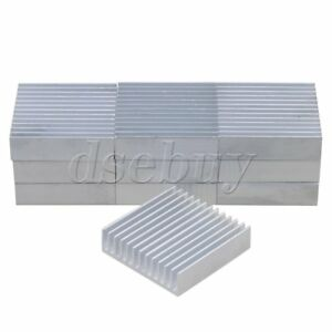 10pcs-40x40x11mm-Silver-Aluminium-Heat-Sink-Cooling-Fin-Radiator-Heatsink