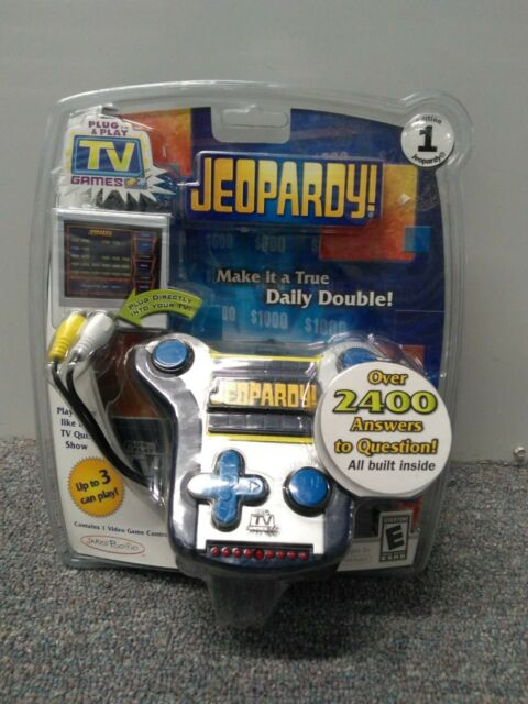 JEOPARDY PLUG & PLAY TV GAME Show Plug & Play Trivia Family Trivia Jakks NEW