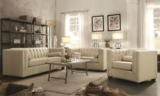 Cairns Stationary Sofa Loveseat & Chair 3Pcs with Tufted Back and Lumbar Pillows