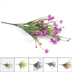 Home Decor Flowers Plastic 35cm length 49 flowers head Wedding New High Quality