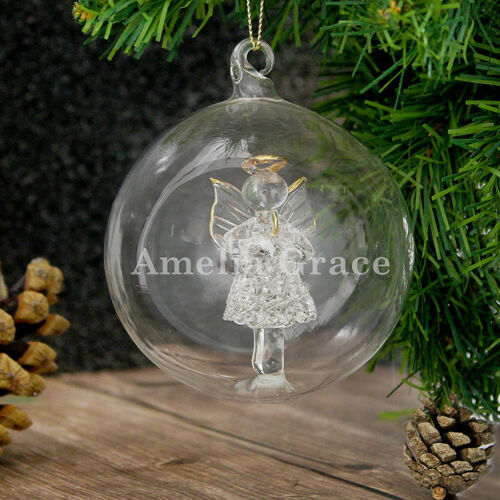 PERSONALISED GLASS BAUBLESGlass Christmas Tree Bauble Unique Gift Decoration