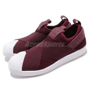 the best attitude 90365 b00da Image is loading adidas-Originals-Superstar-Slip-On-W-Red-Night-