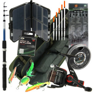 NGT-Travel-Carp-Coarse-Fishing-Set-with-Rod-1BB-Reel-Rod-Bag-Tackle-amp-Bit-Box