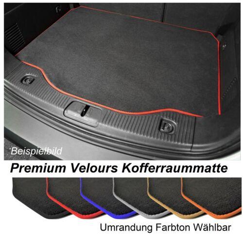 Kofferraum-matte für VW Polo 6 AW1 ab 2017 Schrägheck Premium Velours Anthrazit