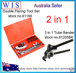 10-Pcs-Brake-amp-Air-Line-Double-Flaring-Tool-Kit-Set-Tool-with-3-in-1-Tube-Bender