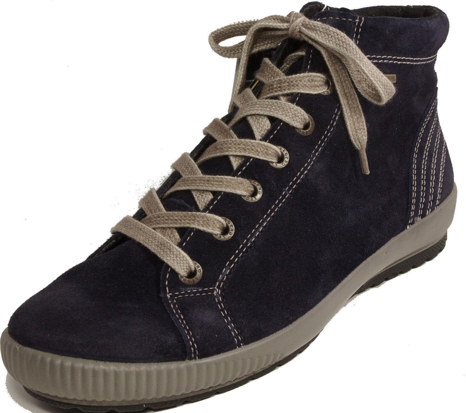 Legero Stivaletto stringato stivaletti velluto boots blu pelle di velluto stivaletti G-larghezza Gore Tex Nuovo 0a279c