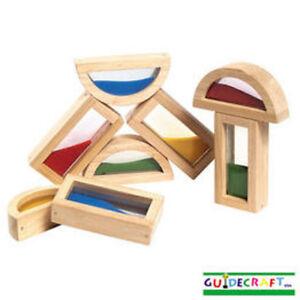 Guidecraft Rainbow Blocks - Sand, Age 2+ yrs G3014 New