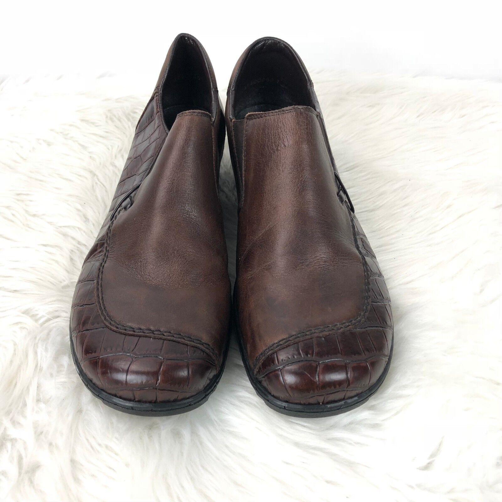 Rieker Antistress 42 damen Printed braun Leather Printed damen Slip-on Comfort schuhe 786dfb