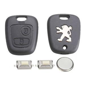 Kit-de-reparacion-de-bricolaje-Peugeot-2-boton-remoto-de-coches-Llavero-caso-con-Blade-107-207-307
