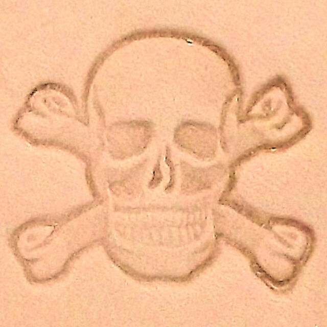 Tandy Leather 3d Skull And Crossbones Stamp 854700