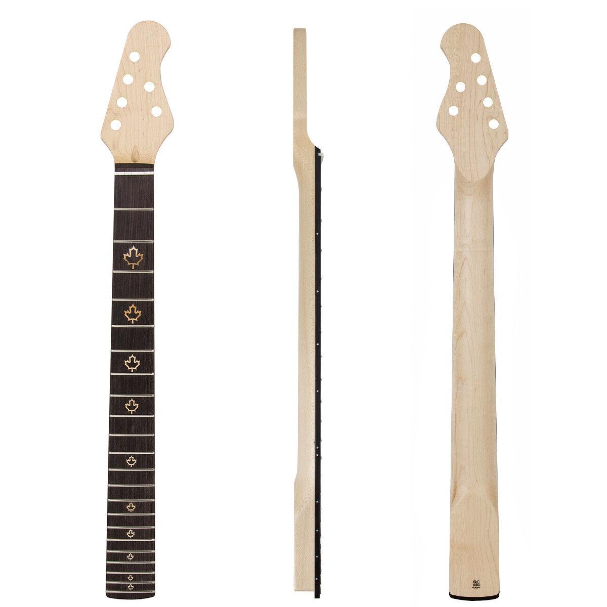22 frets guitar neck for electric guitar parts replacement 4r2l bolt on maple ebay. Black Bedroom Furniture Sets. Home Design Ideas
