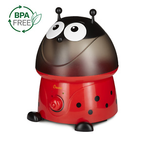Crane USA Ultrasonic Cool Mist Humidifier with BONUS Filter, 1 Gallon, Ladybug