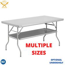 Folding Work Prep Table Undershelf Commercial Stainless Steel Party Nsf 18 Gauge