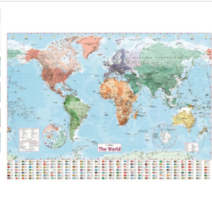 The New Map Of The World.Details About Waterproof World Map Big Large Map Of The World Poster With Country Flags New