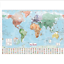 Waterproof-World-Map-Big-Large-Map-Of-The-World-Poster-With-Country-Flags-New thumbnail 1