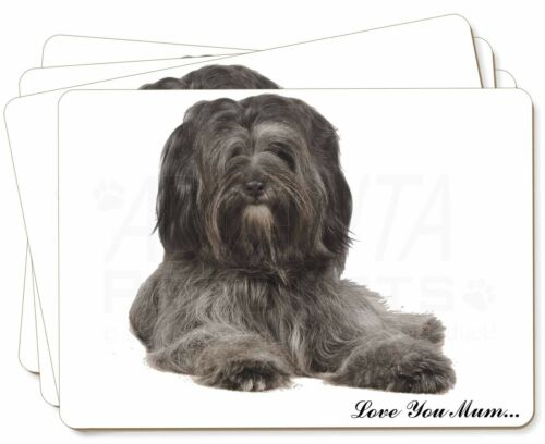 Tibetan Terrier 'Love You Mum' Picture Placemats in Gift Box, ADTT2lymP