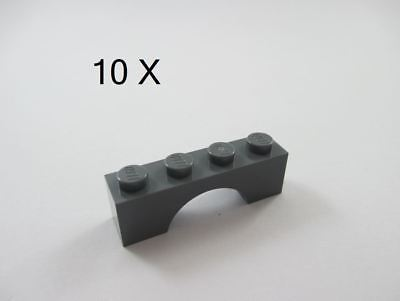 LEGO® Dark Gray Brick Raised Arch 1 x 8 x 2 Design ID 16577