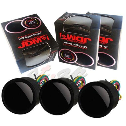 Digital Air Fuel Ratio Oil Temperature Voltage LED Tint Gauge Smoke Meter Tint