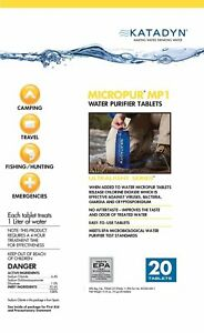 Katadyn Micropur MP1 Water Purification Tablets Pack//30v