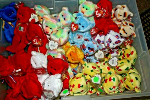 Beanie Babies TY Retired Assorted Bears & Animals Plush - Country National Flag