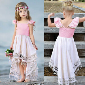 Toddler-Baby-Girls-Kids-Backless-Party-Lace-Tassel-Princess-Dress-Outfit-Clothes