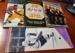 1978-1987-Los-Angeles-KINGS-Hockey-NHL-Media-Guide-lot-4-VG-EX
