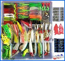 Bluenet 198pcs set 1 Set Fishing Lure Tackle Kit Bionic Bass Trout Salmon Pik...