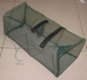 Reliable-Nylon-Mesh-Frame-Fishing-Shrimping-Crawfish-Fish-Net-Trap-Hot-XS