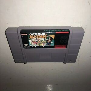 Super-Nintendo-Game-MARIO-ALL-STARS-Cleaned-BATTERY-SAVES-Iconic-SNES-1-2-3